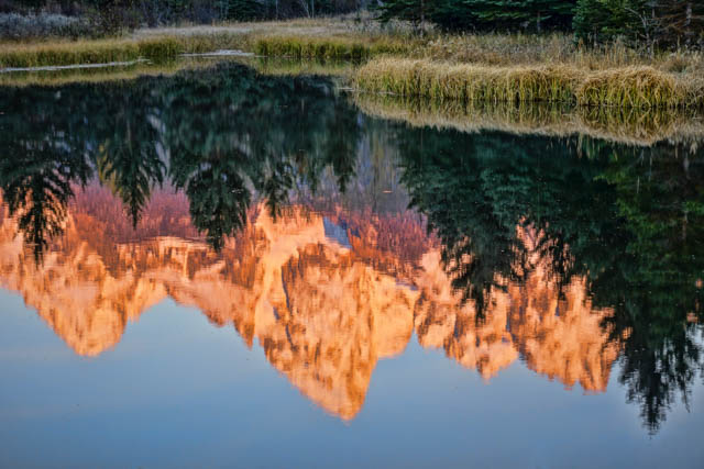 Mountain Reflection at Dawn