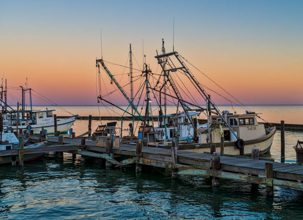 Oyster Boats in Evening Light
