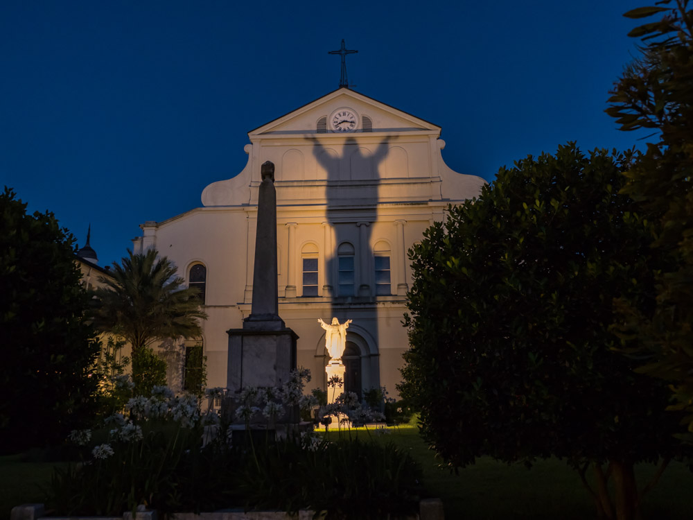 Back of St. Louis Cathedral at Night