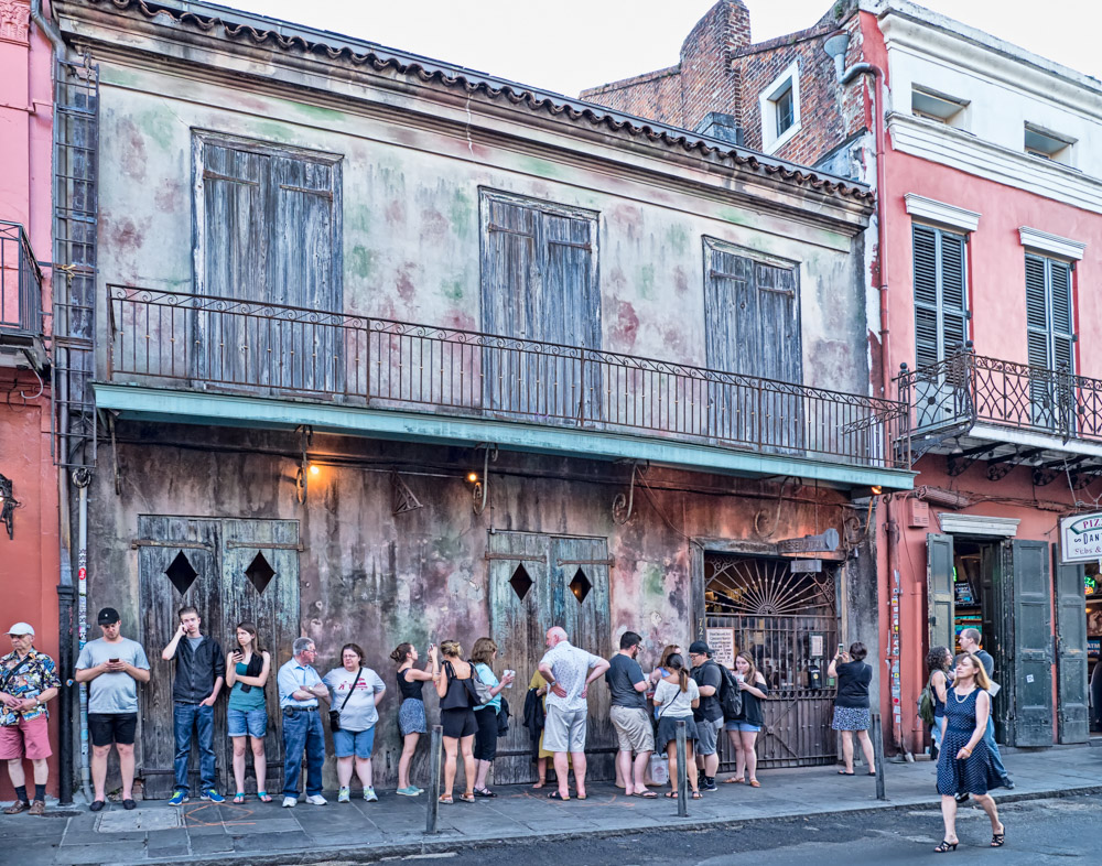 Waiting for Preservation Hall to Open